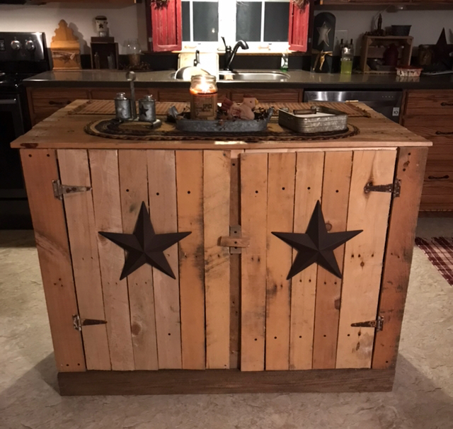 diy reclaimed wood kitchen island - Reclaimed Wood Kitchen Island